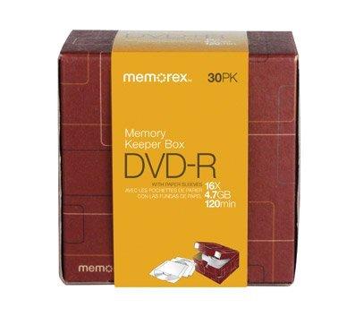 Memorex DVD-R 16X 30Pk DxFFFD;cor Box