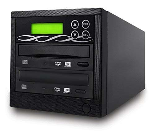 BestDuplicator 10 Ziel-DVD-CD-Kopierer mit DVD-Brennern Athena Duplikator Controller, Standalone Kopierturm Replikationsrecorder, Schwarz