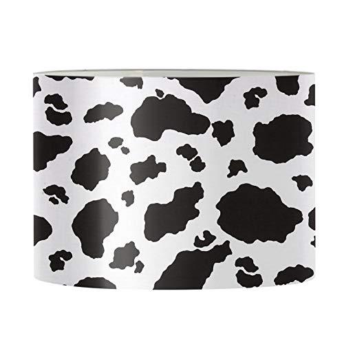 UOIMAG Pantalla de lámpara de mesa con estampado de vaca, moderna lámpara de techo, para mesita de noche, cómoda
