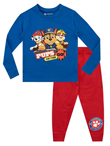 Paw Patrol Pijamas de Manga Larga para niños La Patrulla Canina Ajuste Ceñido Multicolor 2-3 Años