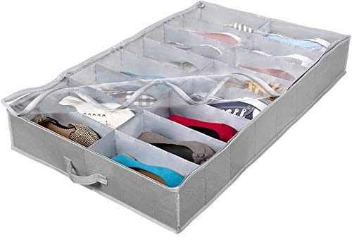 Extra-Large Under Bed Shoe Storage Organizer - Underbed Storage Solution Fits Men