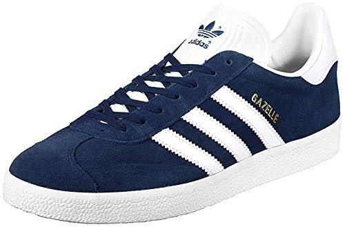 adidas Gazelle, Sneakers basses mixte adulte, Bleu (Collegiate Navy/White/Gold Met), EU44