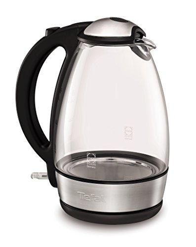 Tefal KI7208 Glas-Wasserkocher, Anti-Kalkfilter, kabellos, 2400 W, 1,7 L, schott glas/edelstahl