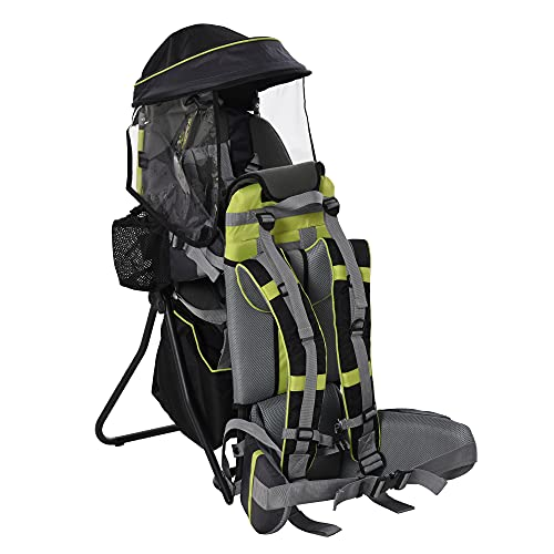 HOMCOM Baby Hiking Backpack Carrier Child Carrier with Ergonomic Hip Seat...