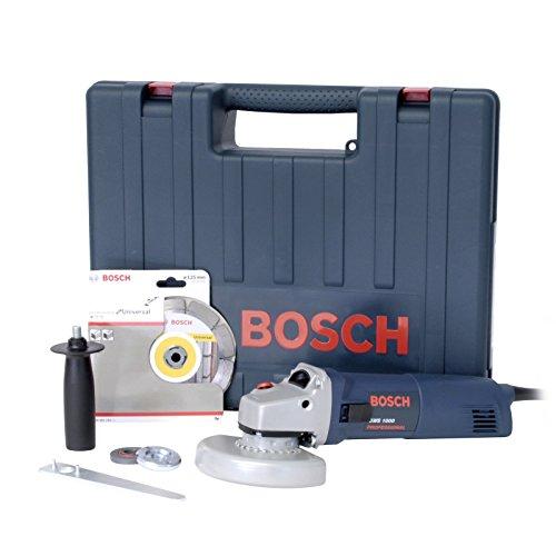 Bosch 601828901 Schleifmaschine – 125 mm – Bosch Gws 1000 Koffer + Diamantscheibe – Blau