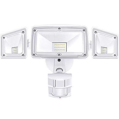 3 Head LED Security Lights Motion Outdoor Motion Sensor Light Outdoor 40W 3500 Lumens 5000k Waterproof IP65 ETL Motion Sensor Flood Light Exterior Security Light led