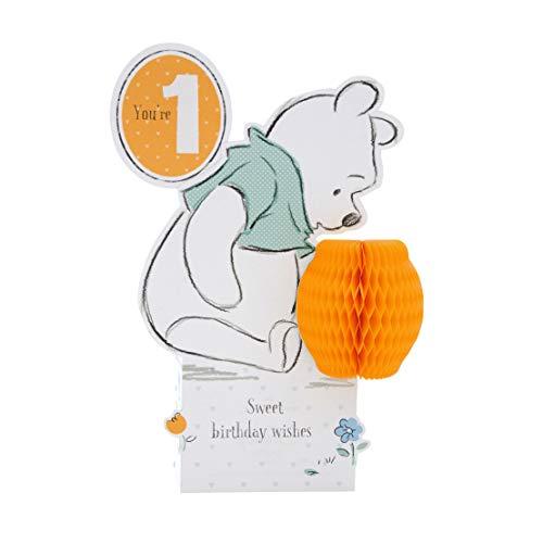 Hallmark 3D-Skulptur-Geburtstagskarte zum 1. Geburtstag, Motiv: Disney Baby, Win...