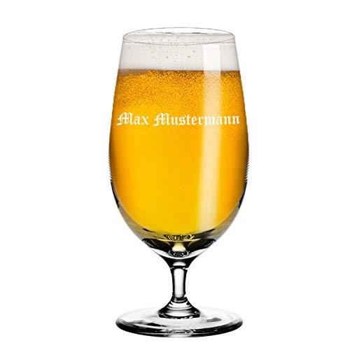 Deitert Leonardo Bierglas 390ml Ciao+ mit Gravur – Bierglas mit individueller Namensgravur, Glas mit Namen oder Widmung