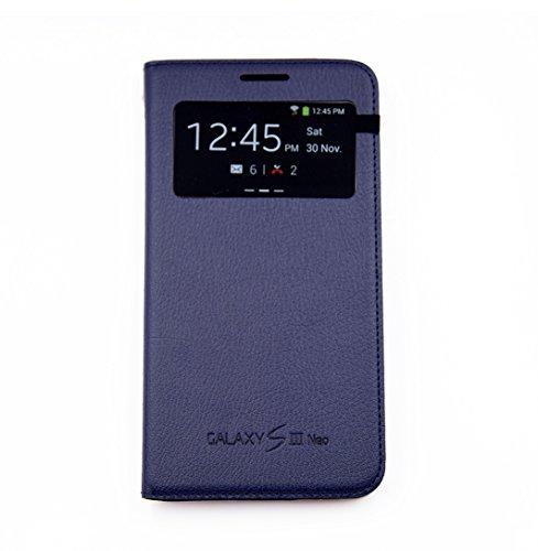 Samsung EF-CI930BLEGWW, Custodia Originale Samsung Galaxy S3 Neo S View Blu Indaco Navy Libro Book i9301