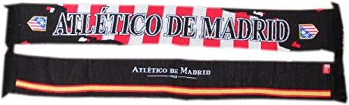 Desconocido Bufanda Atlético de Madrid Doble Negra
