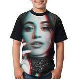 LloydRValdivia Camila Cabello T Shirts Youth Round Neck Shirt Teenager Boys Personality Tees XS Black