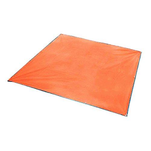 Azarxis Bâche de Tente Tapis de Sol Abri Hamac Parasol Imperméable Portable Léger Anti Pluie pour Camping Plage Randonnée (Orange, 150 x 215 cm)