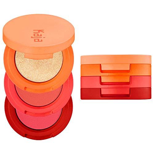 KAJA Beauty Bento Collection| Bouncy Shimmer Eyeshadow Trio | 06 Poppy Champagne - golden coral tones | 2019 Allure Best of Beauty Award, Beauty Bento | Cruelty free, K-Beauty Mini Palettes