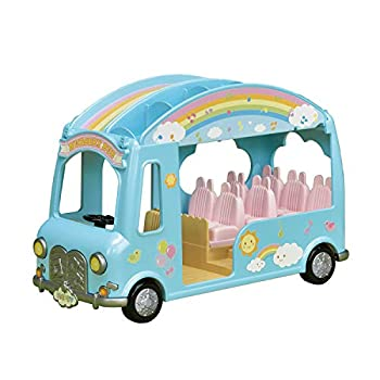 Calico Critters Sunshine Nursery Bus for Dolls Toy Vehicle seats up to 12 collectible figures