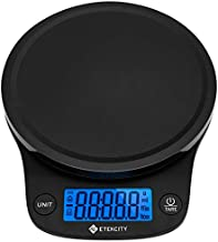 Etekcity 0.1g Food Scale,Digital Kitchen Grams and Ounces for Weight Loss, Baking, Cooking, Meal Prep & Keto Diet, Medium, Black