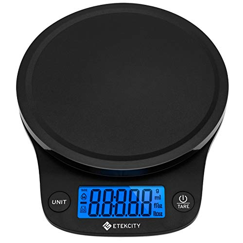 Etekcity 0.1g Food Kitchen Scale, Digital Grams and Oz for Cooking, Baking, Jewelry, Keto, Macro,Calorie and Weight Loss, Basic Version, Black Plastic