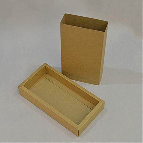 Kraft Paper Bag 20pcs Craft Large Package Box Embalaje Kraft Envío Caja de Papel Regalo Blanco Negro Caja de Cartón Interior 23X14X5Cm Color Artesanía