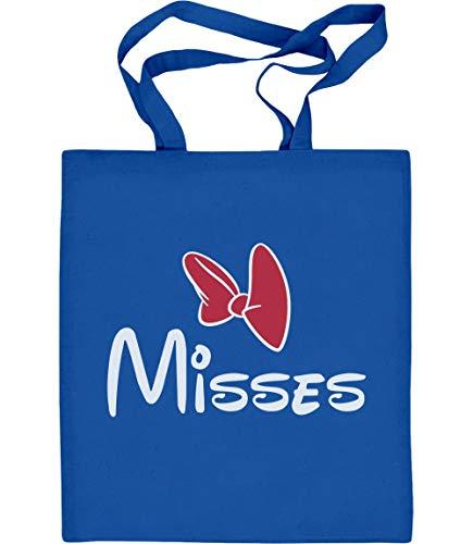 Shirtgeil Geschenk für die Misses - Paar Motiv Jutebeutel Baumwolltasche One Size Blau