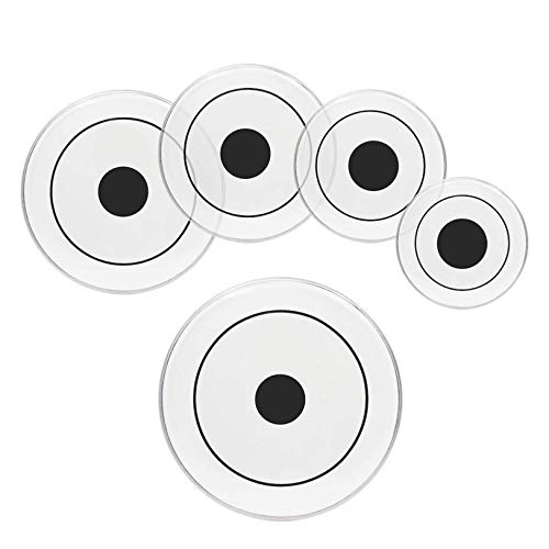 RUCC HomeLiving Drum Heads (22, 16, 14, 13, 12) White - Many Sizes - Drum Head Set for Musicians, Band - Quality Musical Instrument Accessories CV (Color : White) (Color : Transparent with Dot)