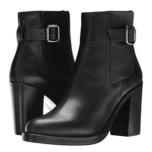 XER Women'S Boots, Mode Comfortabele Waterdichte Hoge hak Dikke enkellaarzen Maat 34-47 voor Fancy Dress Party(Zwart)