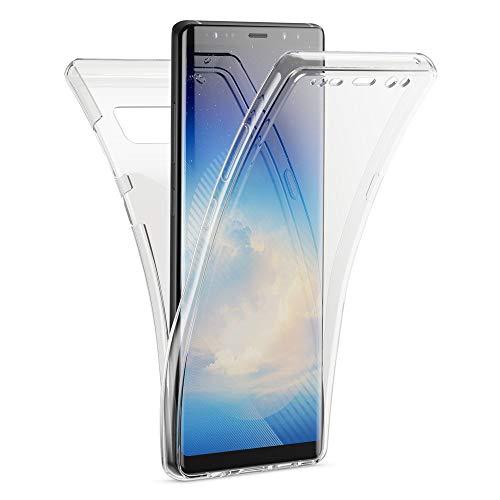Kaliroo Handyhülle 360 Grad kompatibel mit Samsung Galaxy Note 8, Dünne Silikon R&um Hülle Full-Body Cover, Slim Schutzhülle Handy-Tasche Phone Hülle, Vorne und Hinten Komplett-Schutz - Transparent