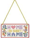 Nostalgic-Art Targa da Appendere Sweet Home – Idea Regalo per la casa, in Metallo, Decorazione con Design Vintage, 10 x 20 cm