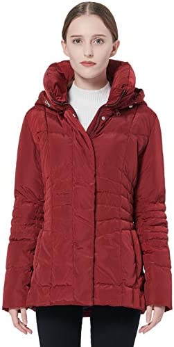 Orolay Women s Warm Winter Down Coat Hooded Puffer Jacket Red XS product image