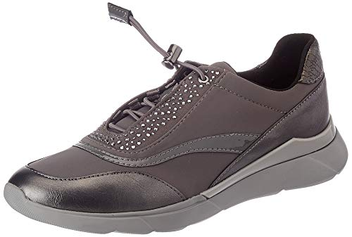 GEOX D HIVER C DK GREY Womens Trainers Low-Top Trainers size 38(EU)