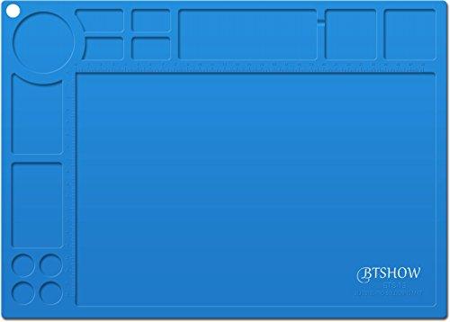 BTSHOW Soldering Mat Silicone Heat Resistant Mat 954°F Soldering Materials Electronics Mat for Heat Gun,Soldering Iron,Soldering Station,Cellphone Repair Mat Welding Blanket 13.7