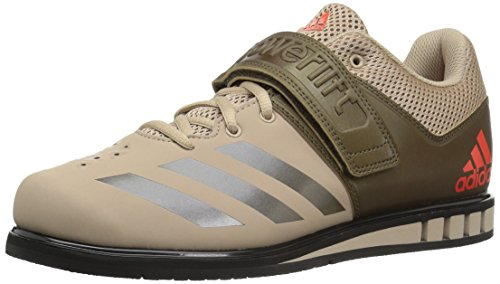 adidas Men's Powerlift.3.1 Cross Trainer, TECH Beige/Trace Olive/Black, 5 Medium US