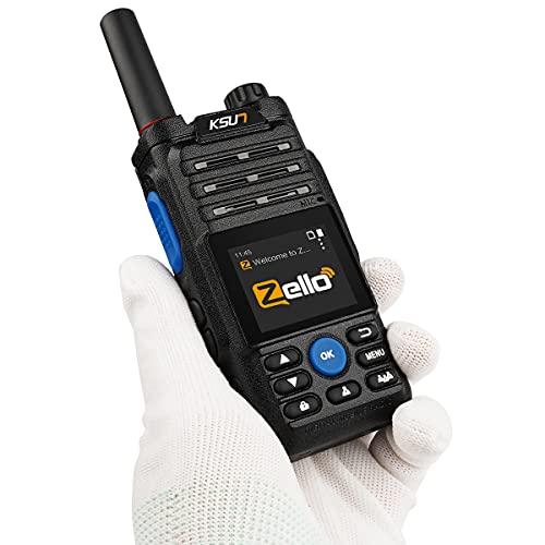 Walkie Talkie Phones Zello PTT Button APP Mobile Radio 4G SIM Card 100...