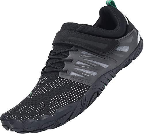 SAGUARO Barefoot Zapatos para Deportes Acuáticos Masculino Ultraligero Respirables Zapatillas de Natación Playa Agua Buceo Cycling Ejercicio Senderismo Zapato Femenino Adulto, Trail Negro 39