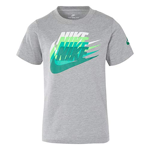 NIKE Children's Apparel Boys' Toddler Graphic T-Shirt, Dark Grey Heather/Green, 2T