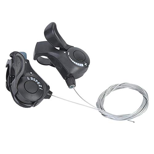 EIN Paar Outdoor Mountainbike Thumb Gear Shifter, 3X7 Schalthebel für Mountainbike, City Bike, Rennrad, Faltrad
