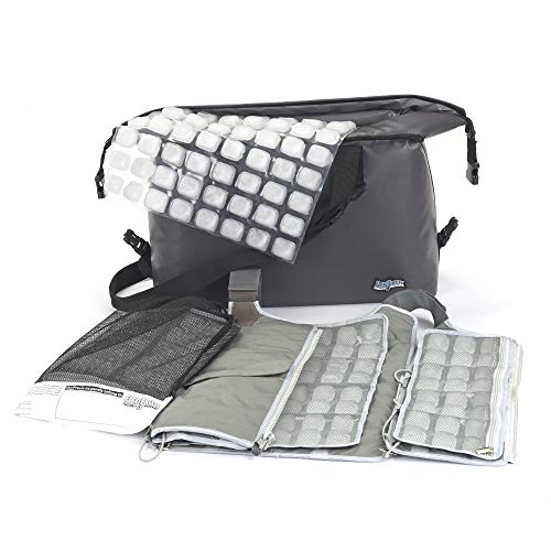 Professional Cooling Kit - Ice Vest with Additional Ice Sheets and Travel Cooler (Charcoal)