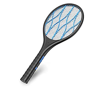 Intelabe Bug Zapper Mosquito Killer USB Rechargeable Electric Fly Swatter for Home Outdoor Powerful 4000V Grid Detachable Flashlight LED Light Safe to Touch with 3-Layer Safety Mesh