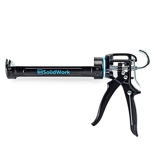 SolidWork - Pistola professionale per cartucce con velocità massima 24:1, in silicone per la lavorazione di tutte le cartucce di tenuta e colla da 310 ml