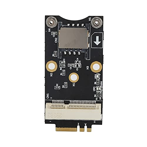 Adaptador M.2 a Mini PCI-E Módulo M.2 Key A/E 2230 3G / 4G / WiFi - Tarjeta Micro PCI-E con Ranura para Tarjeta SIM de 6 Pines / 8 Pines Tarjeta de expansión M.2 a Mini PCI para Win10 / 8/7 / 2000 /