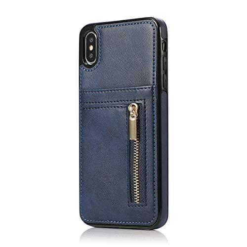 ✔️【Práctica funda para teléfono y cartera en uno.】Funda Samsung Galaxy S8 PLUS permite llevar tu teléfono y tus objetos esenciales diarios sin llevar tu cartera o bolso. dando a su teléfono, Elegante cuero sintético en estilo cierre magnético invisib...