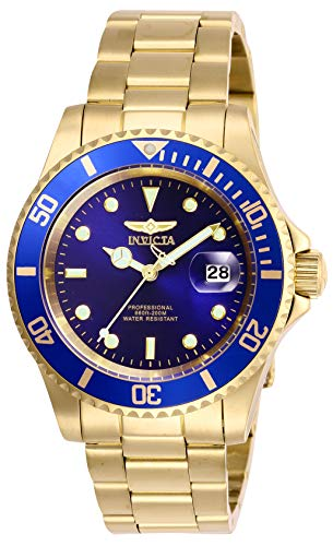Invicta Men's Pro Diver Quartz Watch with Stainless Steel Strap, Gold, 20 (Model: 26974)
