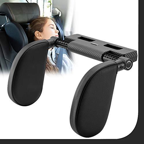 Almohada del Cuello del Coche para Dormir En El Automóvil, Reposacabezas Coche, Head Cushion Neck Protect Pillow Head Rest para Niño Adulto,Negro