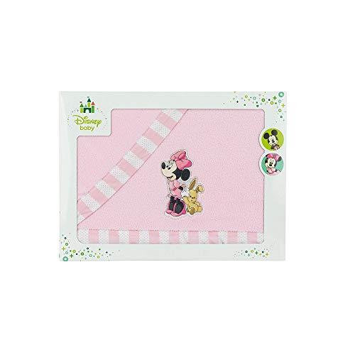Interbaby Mn023-02 - Sábanas Cuna Coralina Disney Minnie Mouse, Rosa