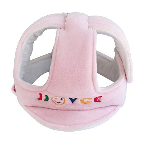 YeahiBaby Casco de seguridad para bebes cómodo y ajustable para proteger cabeza aprender gatear andar caminar correr jugar (Rosa)