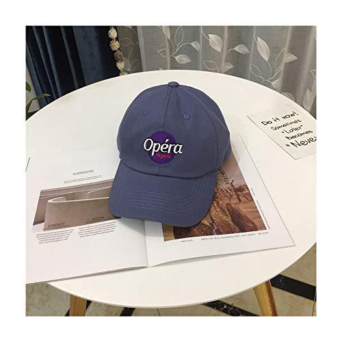 XY-hat Calentar Versátil Simple Gorra Sombrero Femenino Primavera Y Verano Casual Bordado Carta Gorra De Béisbol Moda (Color : Navy)