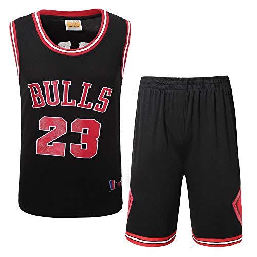 LHDDD NBA Abbigliamento Basket Bulls n. 23 Jersey,Felpa, Comoda Ricamo Artigianale, Completo Sportivo da Esterno Maschile in Jersey Traspirante Traspirante Tuta all'aperto