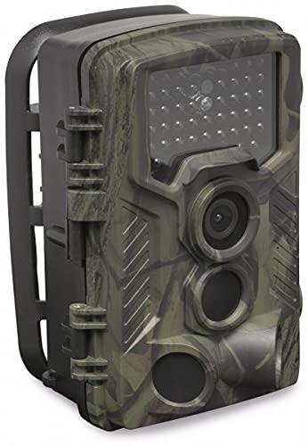 Denver WCT-8010 FullHD Wildkamera mit Bewegungssensor Display 12MP Tier Wild Überwachungskamera, Grün Schwarz