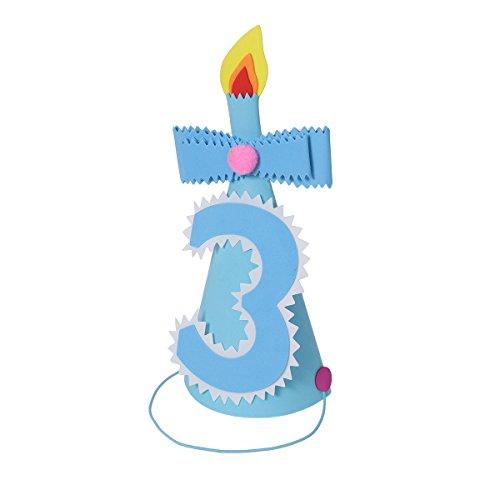 BESTOYARD Sombreros de Cumpleaños Infantil para Niños Corona de Prince para Cumpleaños Adorno de Pelo para Cumpleaños de Niño (Número Azul 3)
