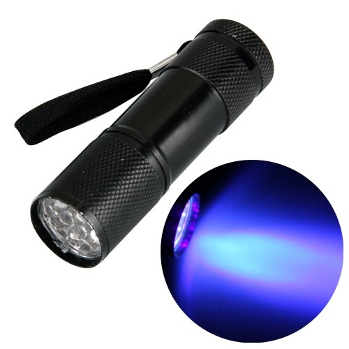 Ecloud Shop 9 LED Linterna Luz Ultravioleta Antorcha