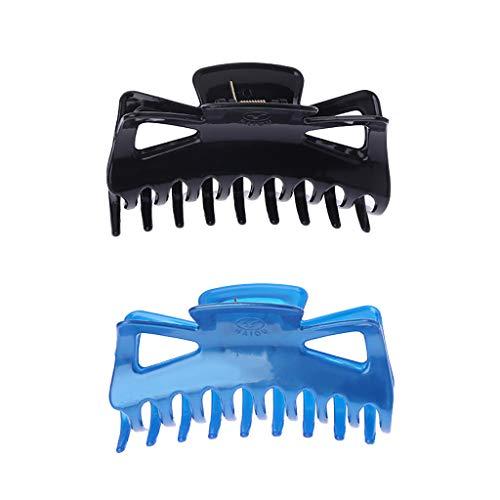 Folewr-8 2Pcs Pinces de Cheveux Crabe en Plastique pour Femme Fille 11 × 5,5 × 4,5 cm