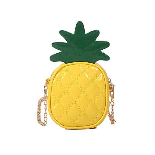 Yeptop Süße Ananas-Erdbeer-Form Schulter Mini Kette Crossbody Tasche für Frauen Satchel Geldbörse Handtasche Gr. One size, 1